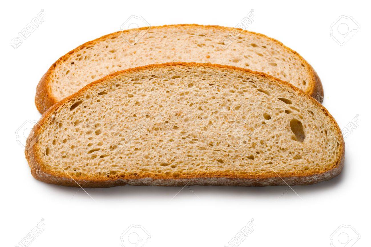Bread slices isolated on white Stock Photo - 8213216