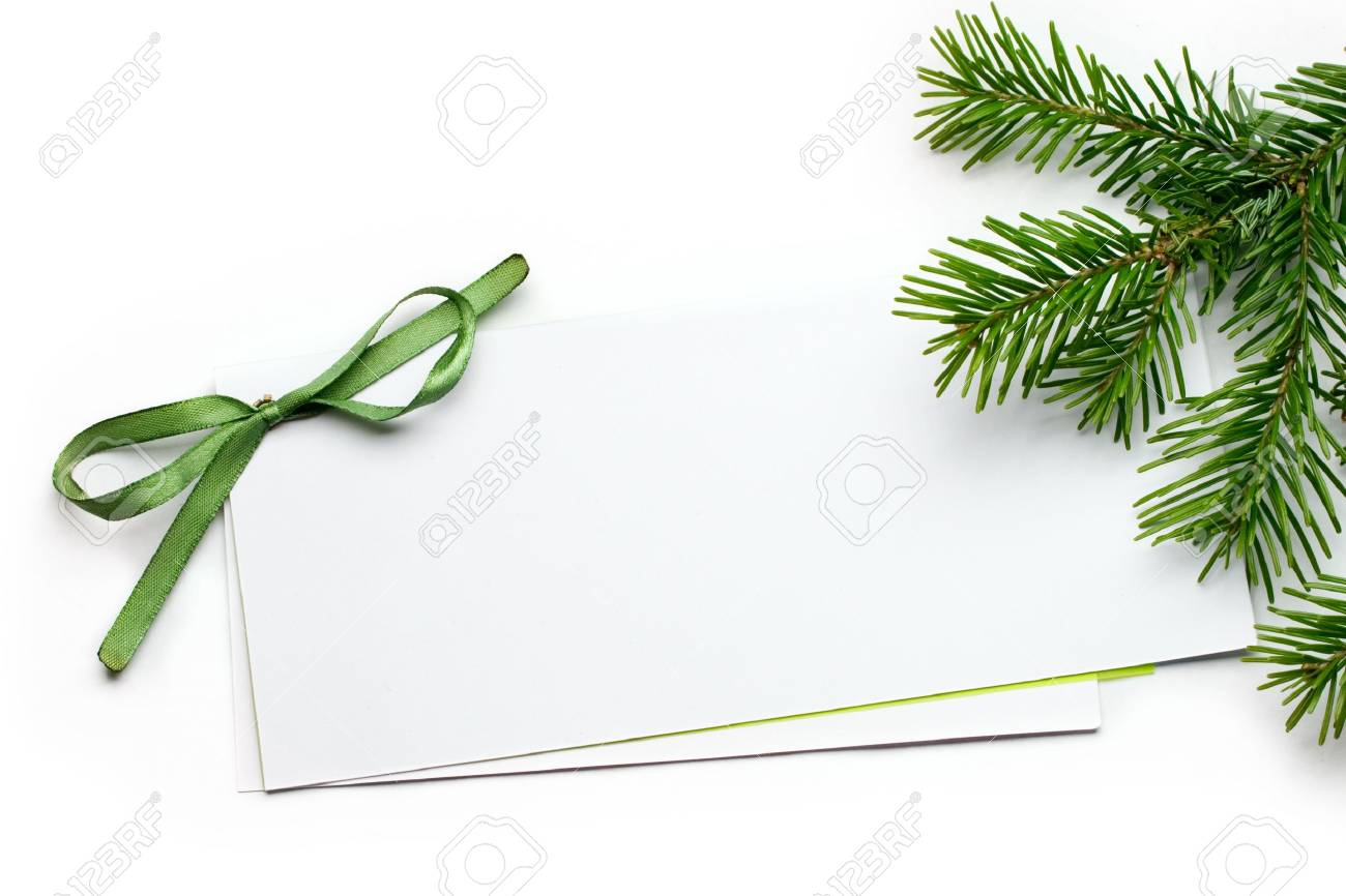 Greeting card isolated on white Stock Photo - 8436301