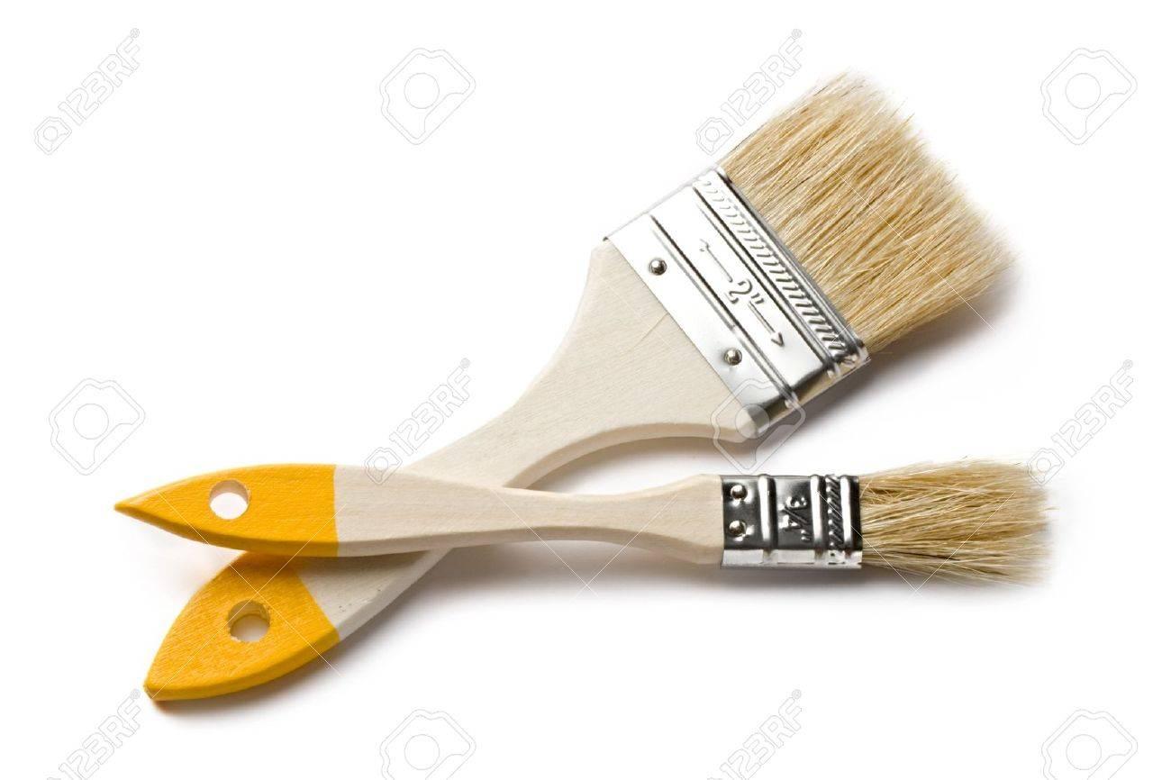 Paint brushes isolated on the white background Stock Photo - 10681692