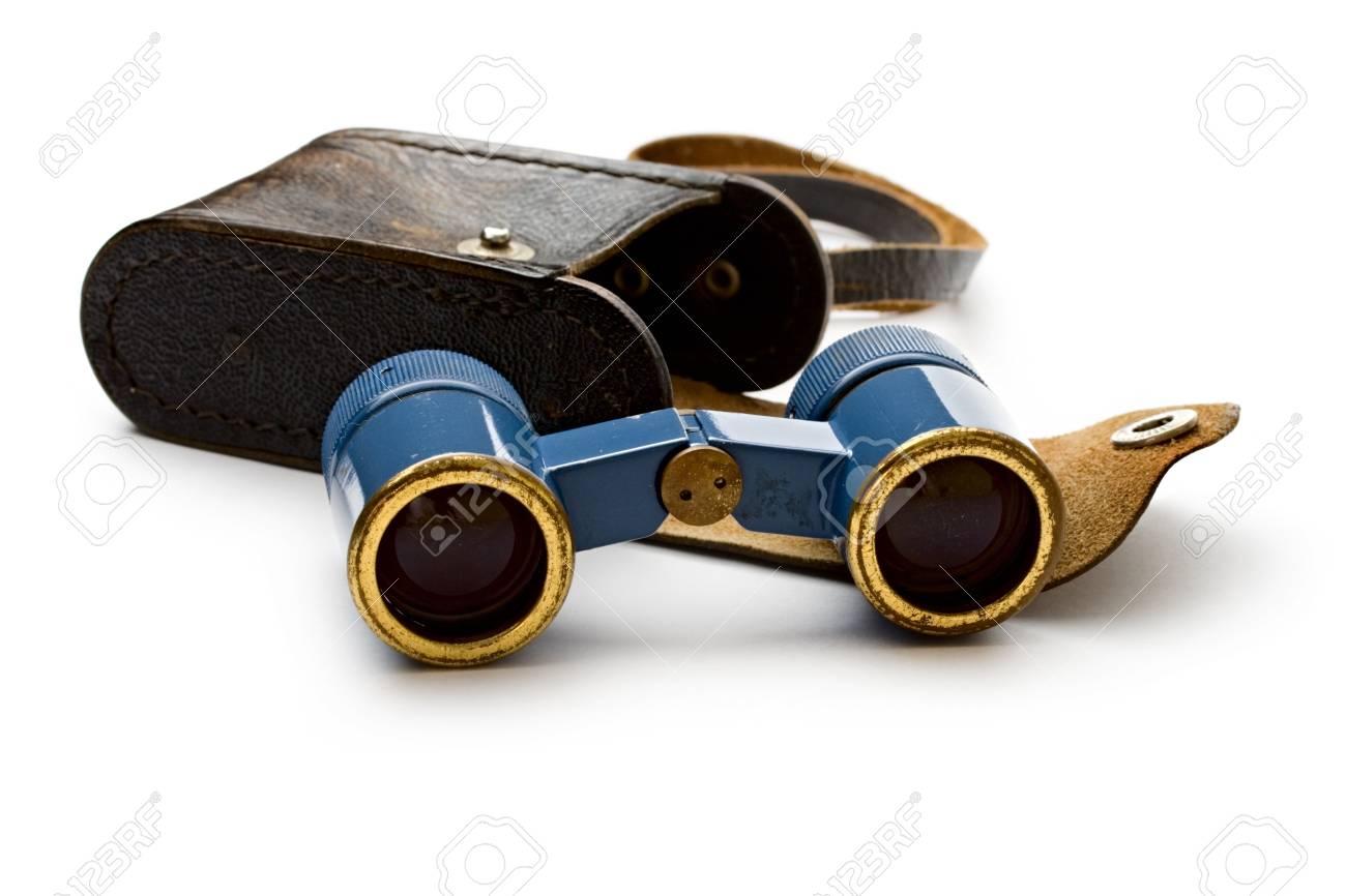 Binoculars isolated on white Stock Photo - 11080786