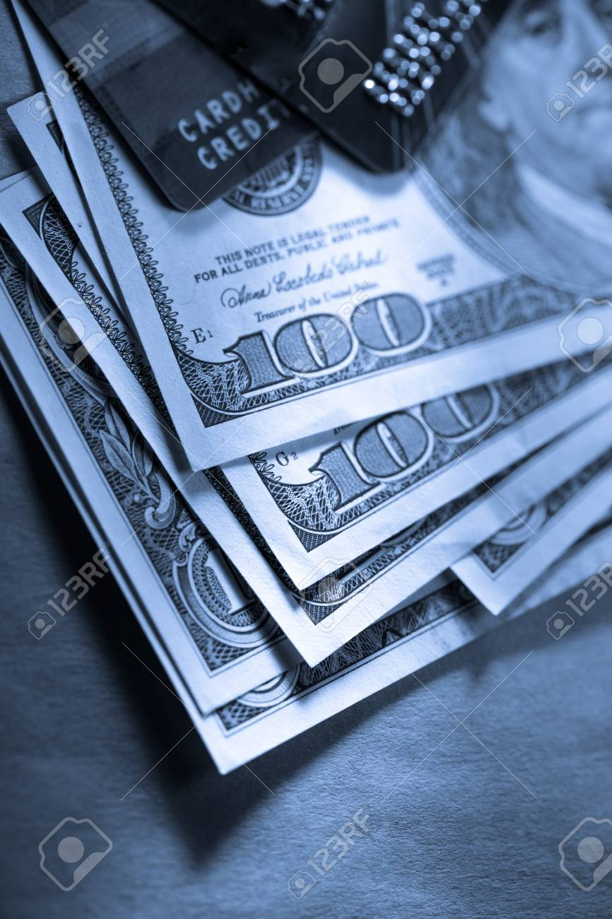 Credit cards and dollars in cash Stock Photo - 14933537