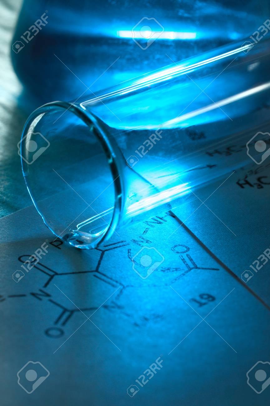 Chemistry image with reaction formula Stock Photo - 19409620