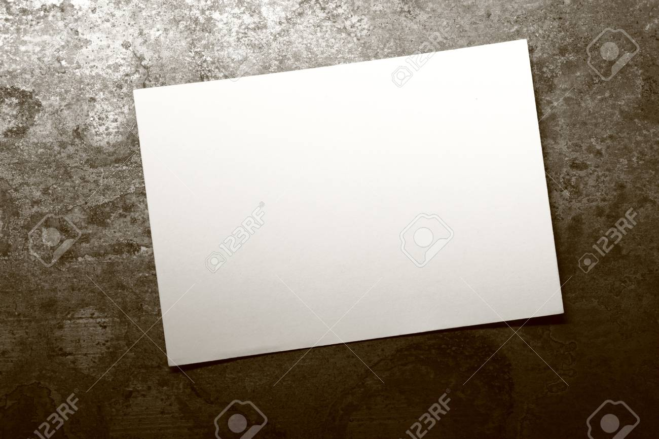 Blank card on rusty background Stock Photo - 20100743