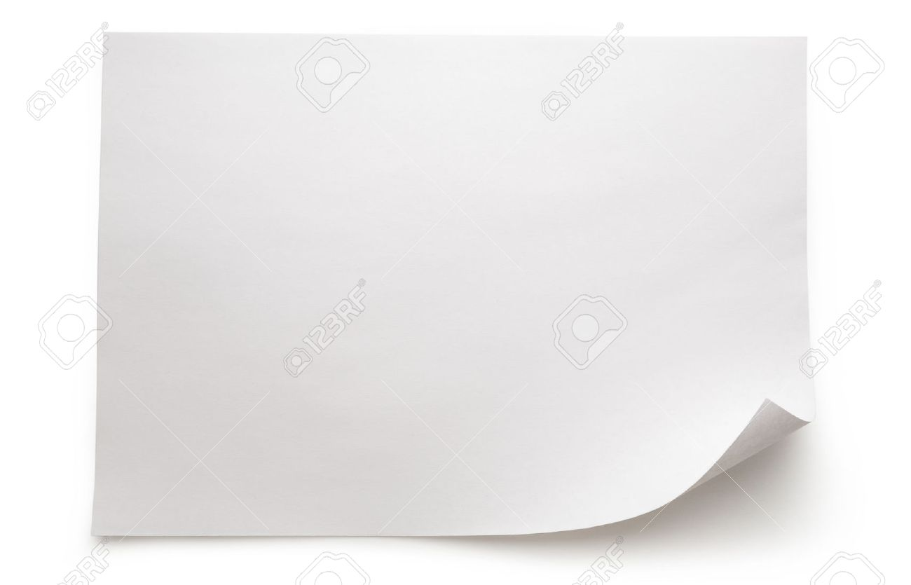 blank sheet of paper on white background stock photo picture and