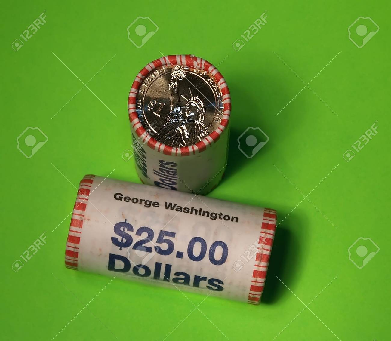 US government just issued new presidential dollar coins Stock Photo - 912206