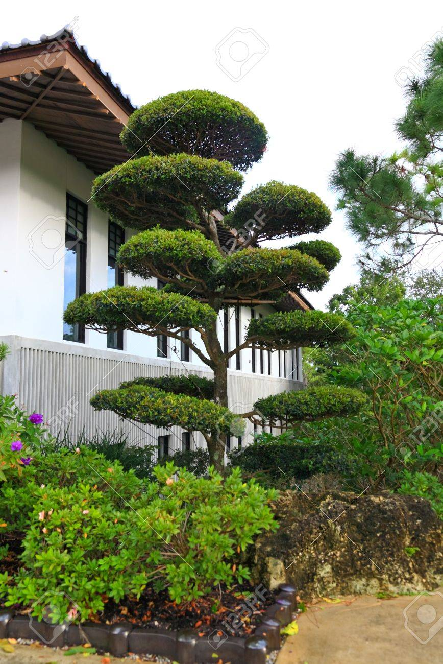 A Famous Traditional Japanese Garden In Southern Florida Stock