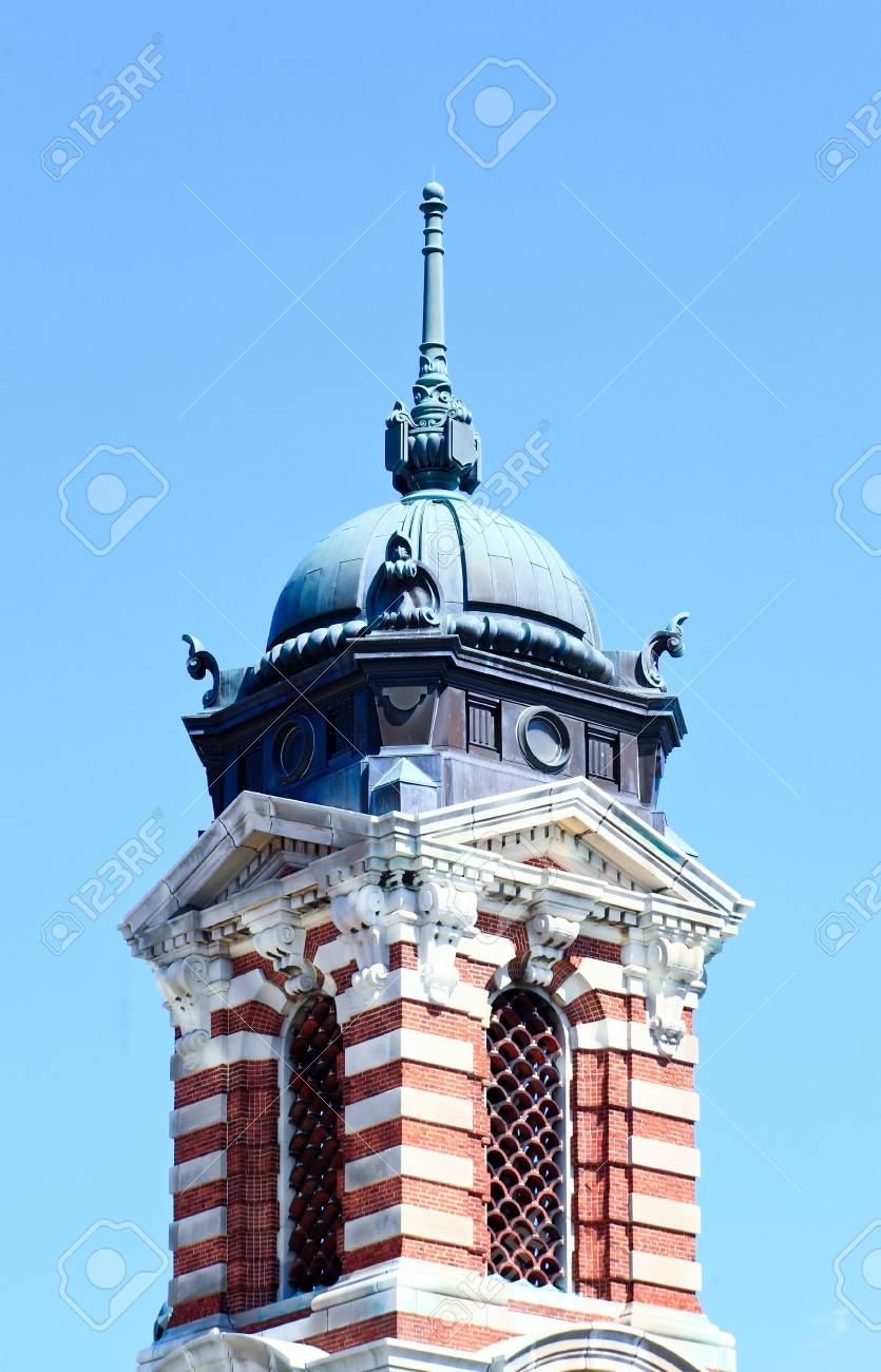 The main immigration building on Ellis Island in New York harbor Stock Photo - 4681508