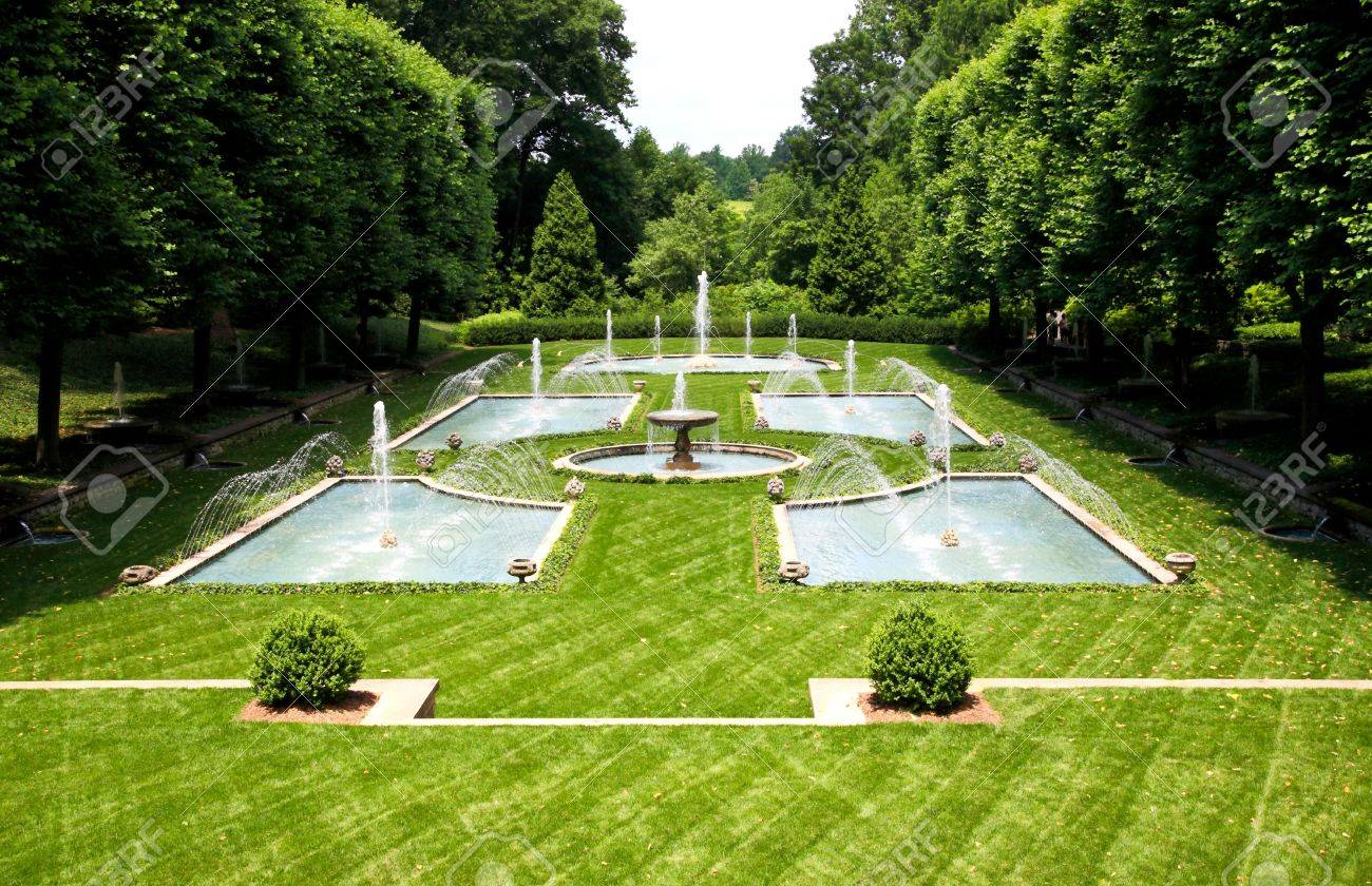 a italian garden design in a botanical garden usa stock photo 5200580