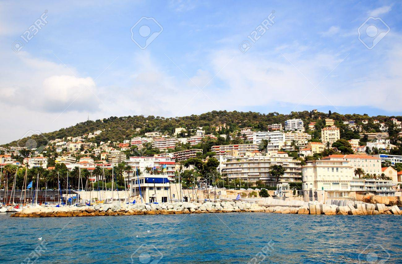 Nice houses on the beach - Stock Photo The Billionaire S Houses At Nice Beach Front France