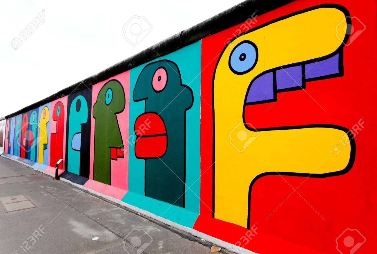 Beautiful The Berlin Wall: BERLIN   MAY 29: The East Side Gallery   The Largest Part 23