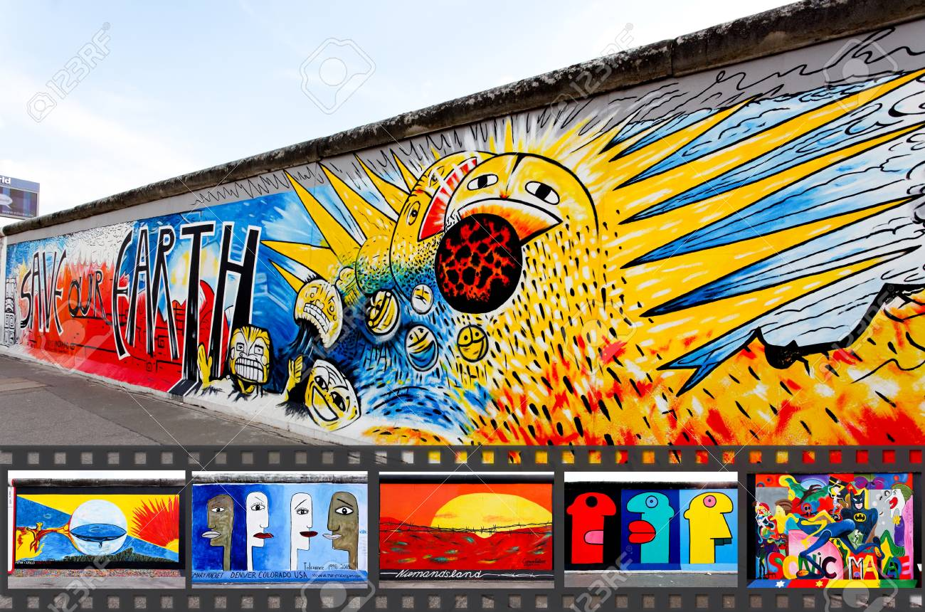 BERLIN - MAY 29: The East Side Gallery - The Largest Outdoor.. Stock ...