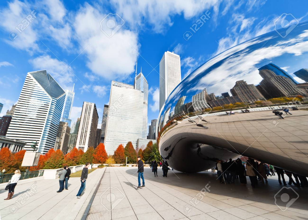 CHICAGO, USA - NOVEMBER 14: The Millennium Park in downtown Chicago on November 14, 2010, which costs $475 million and is completed in 2004, a major construction since the World's Exposition of 1893. Stock Photo - 9256609