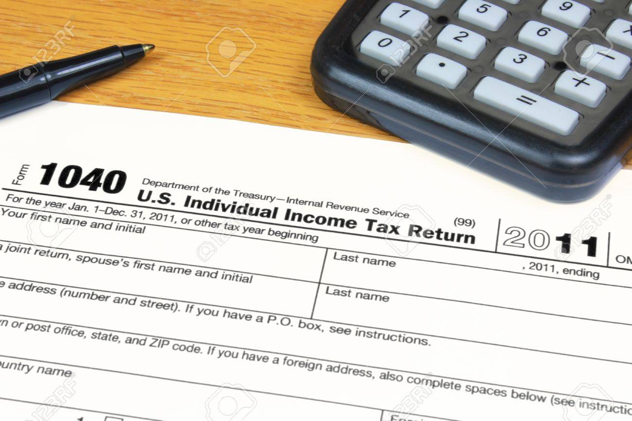 Form  US Income Tax Return Stock Photo Picture And Royalty - Us zip code no tax