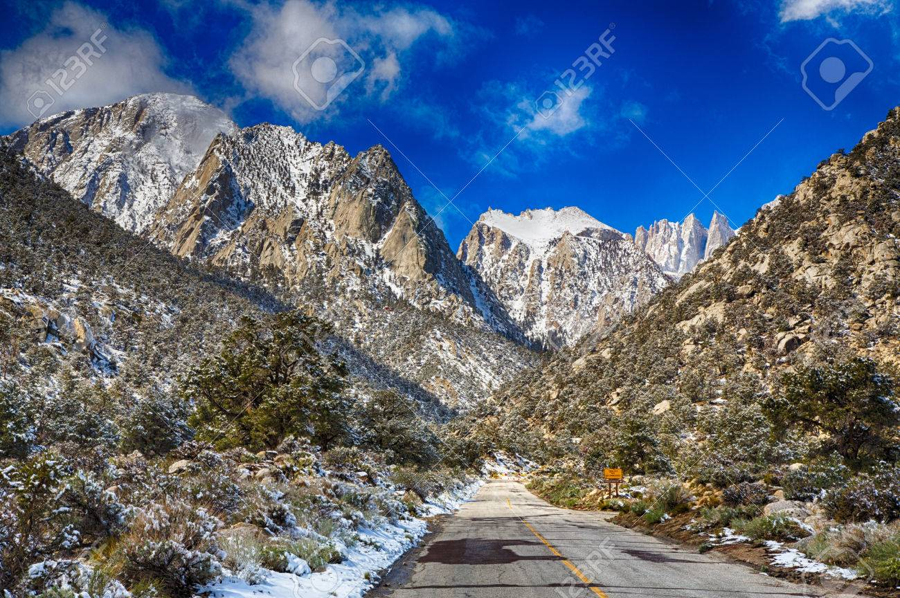 Spring Snow In The Eastern Sierra Nevada Mountain Range California Stock Photo Picture And Royalty Free Image Image 31581325