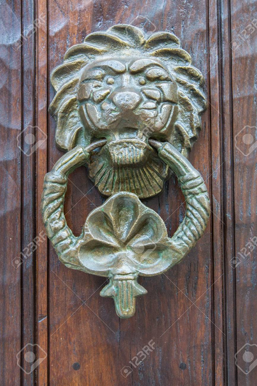 Ornate Door Knockers And Detail On Th Famous Doors Of Cartagenau0027s Historic  Old City. Stock