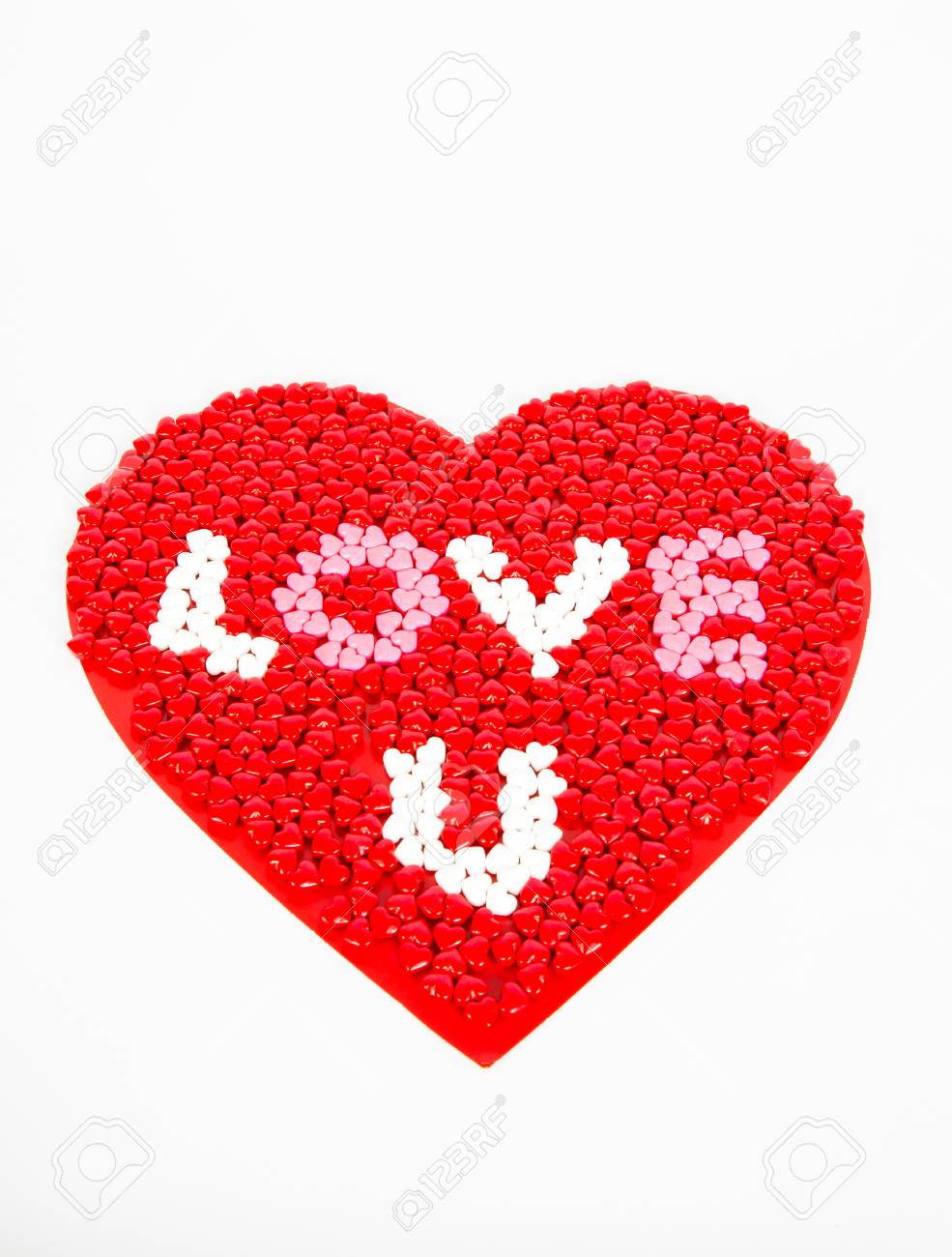 Red White And Pink Candy Hearts For Valentines Day Arrainged