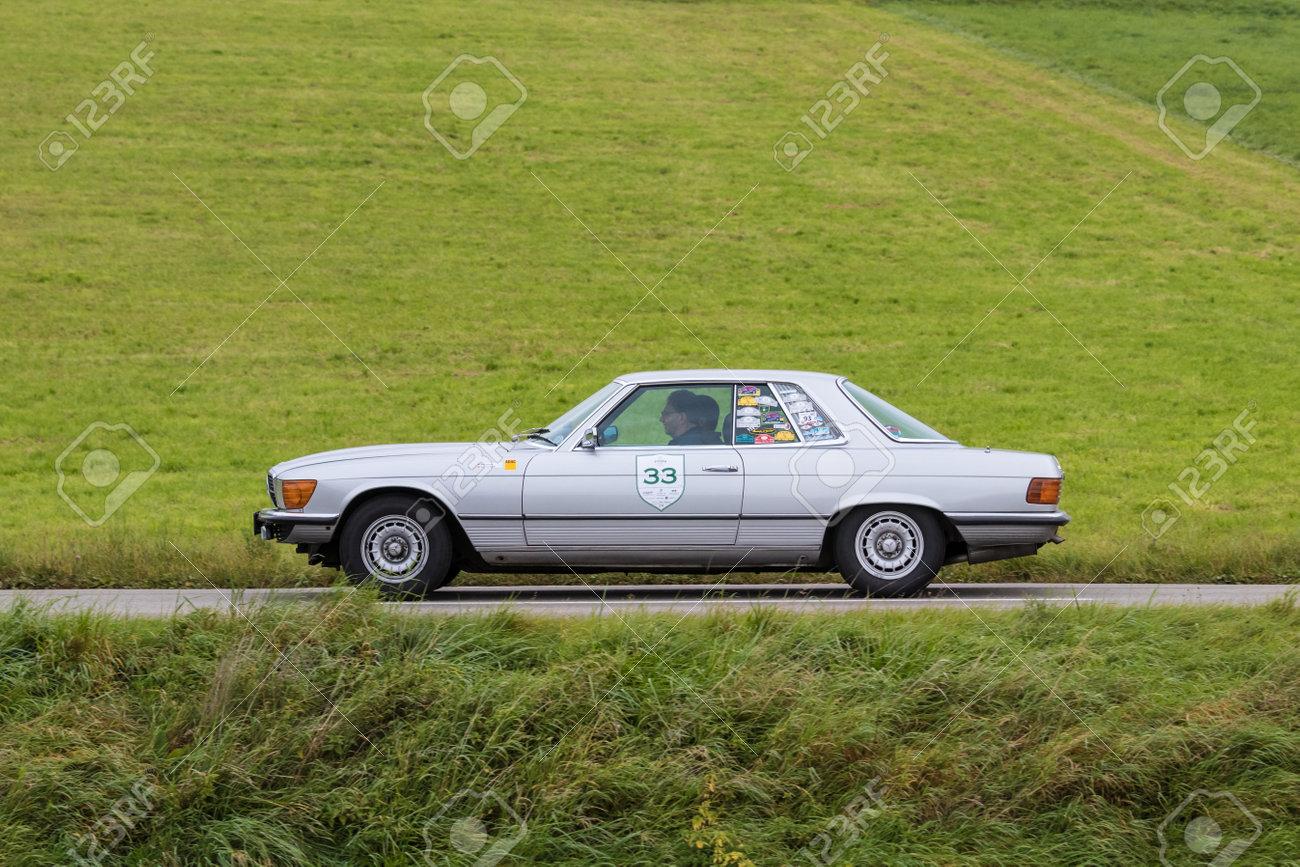 Augsburg Germany October 1 2017 Mercedes Benz 450 Sl Oldtimer