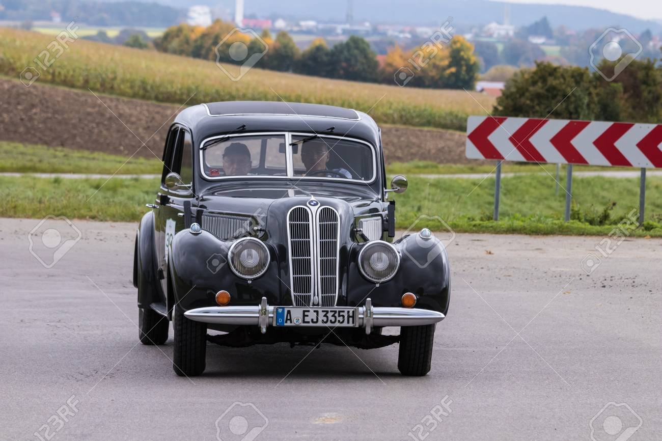 Augsburg Germany October 1 2017 Bmw Oldtimer Car At The Stock Photo Picture And Royalty Free Image Image 91224914