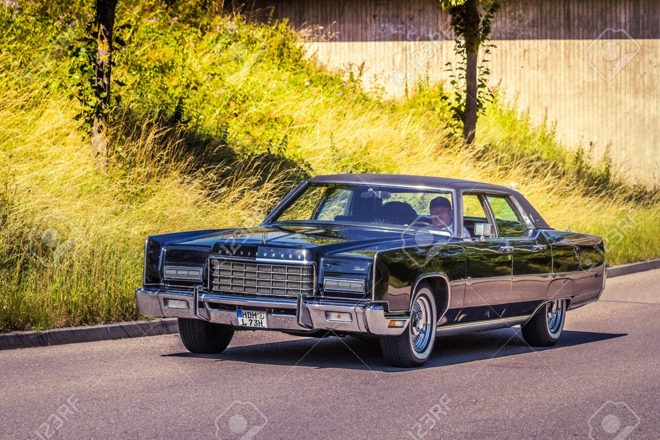 Heidenheim Germany July 8 2018 1973 Lincoln Continental Stock