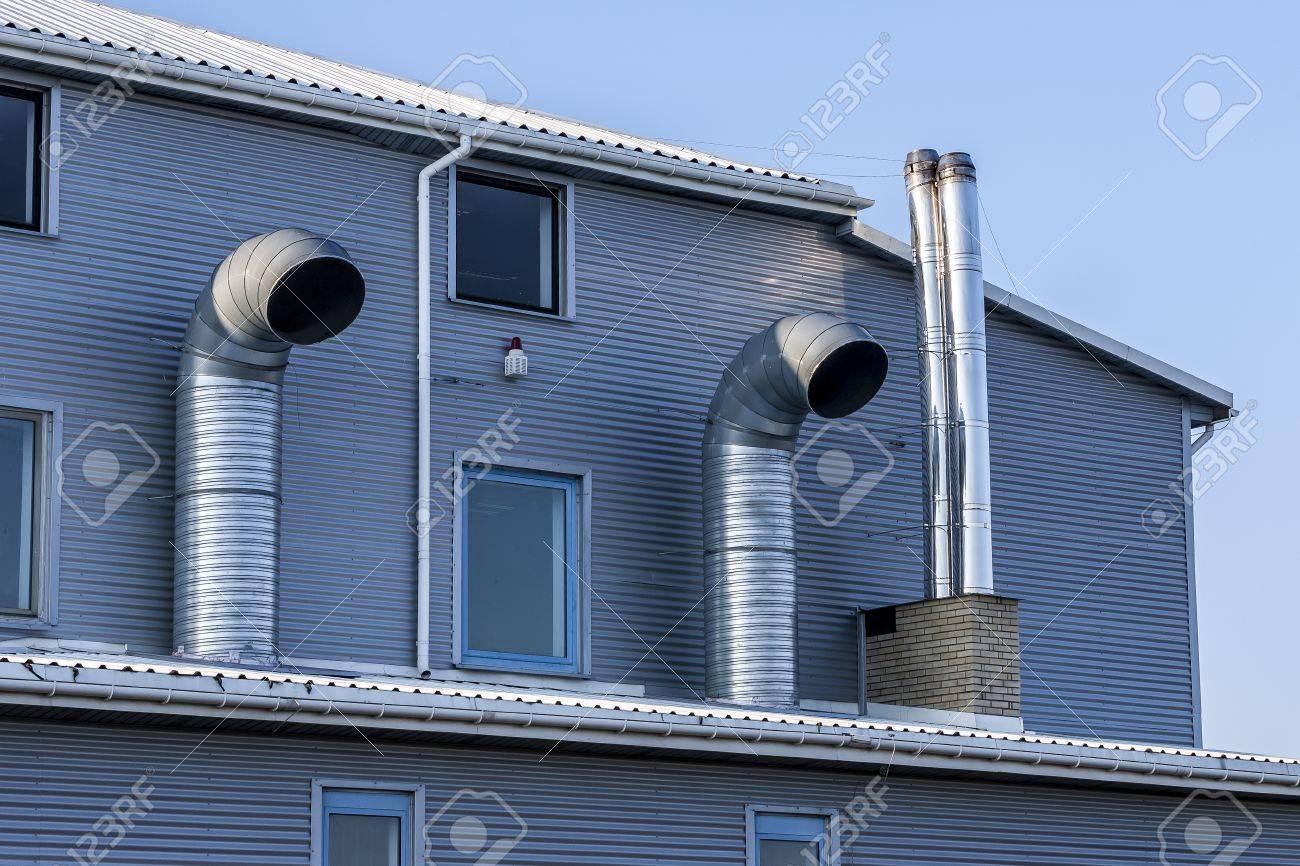 bâtiment industriel moderne avec système de ventilation banque d