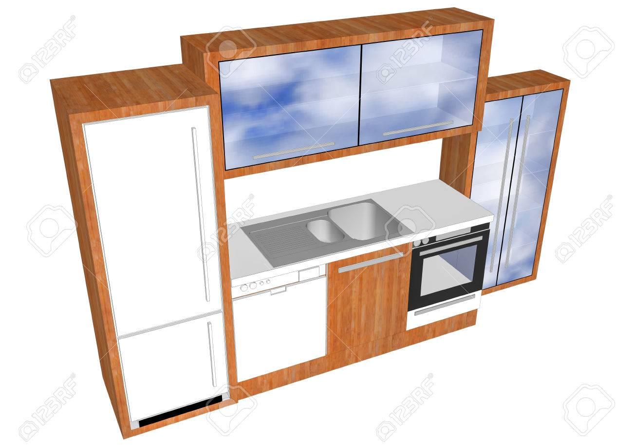Progettazione 3D di elementi della cucina
