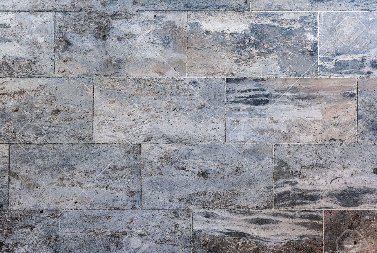 Mármol O Granito Del Piso Losas Para Pavimentos Pavimento Exterior. Natural  Gris Textura De Piedra De Pavimento Para Suelos, Paredes O Ruta.