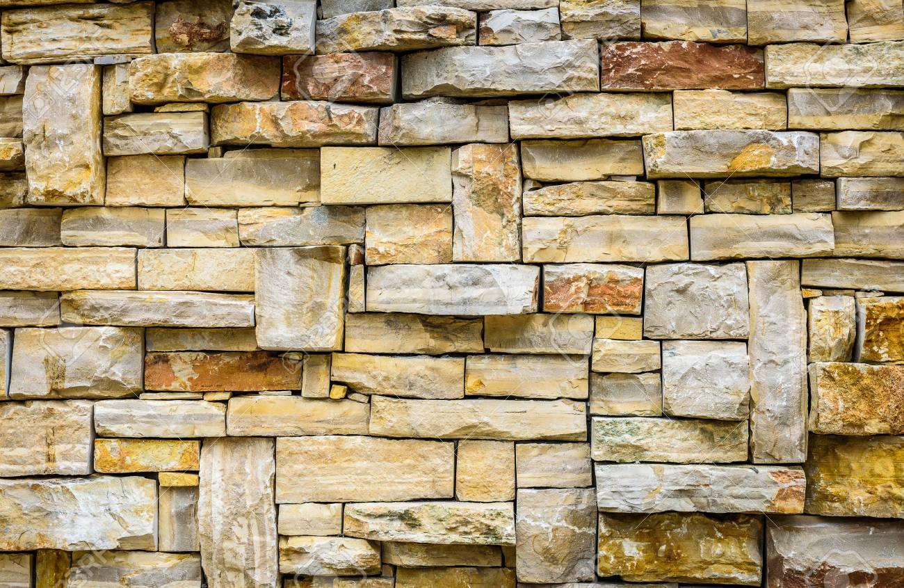 Moderner Muster Naturstein Ziegelstein Dekorative Wand Beschaffenheit Für  Hintergrund. Authentischer Stein