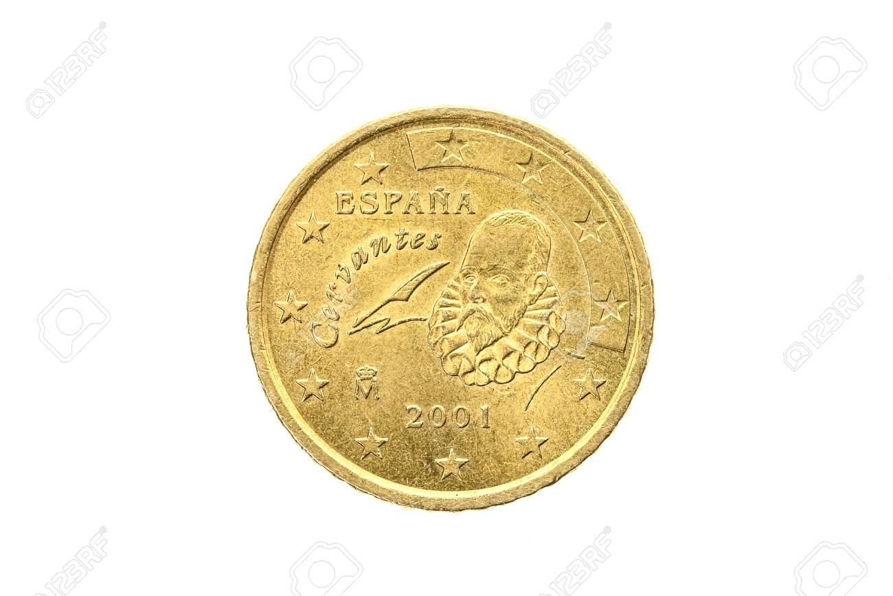 Alte Benutzte Und Abgenutzte 50 Cent Münze Münze Der Europäischen