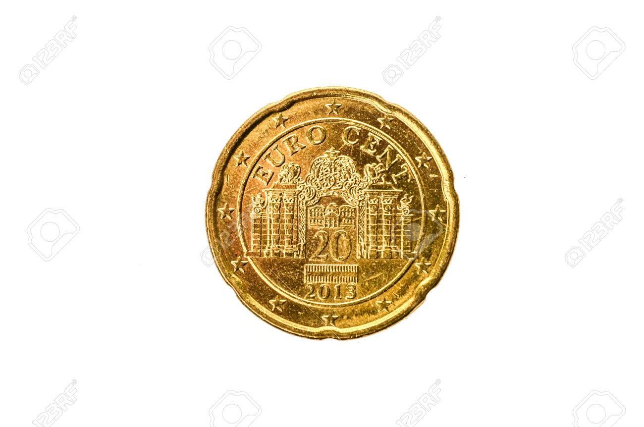 Alte Gebrauchte Und Abgenutzte 50 Cent Münze Münze Der Europäischen