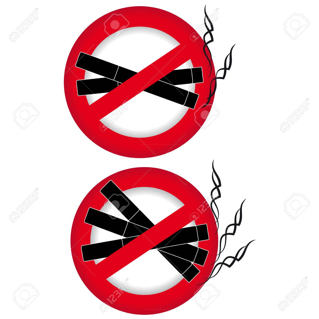No Smoking Symbol On White Background Vector Illustration Royalty