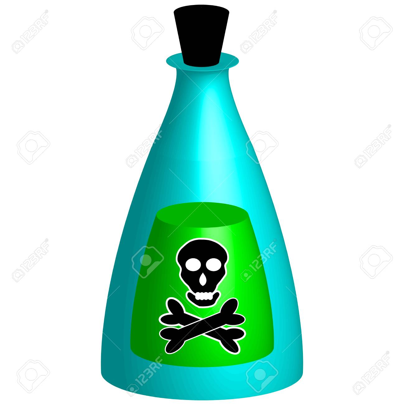 Symbol For Marking Toxic Poisoning Vector Illstration Stock Photo