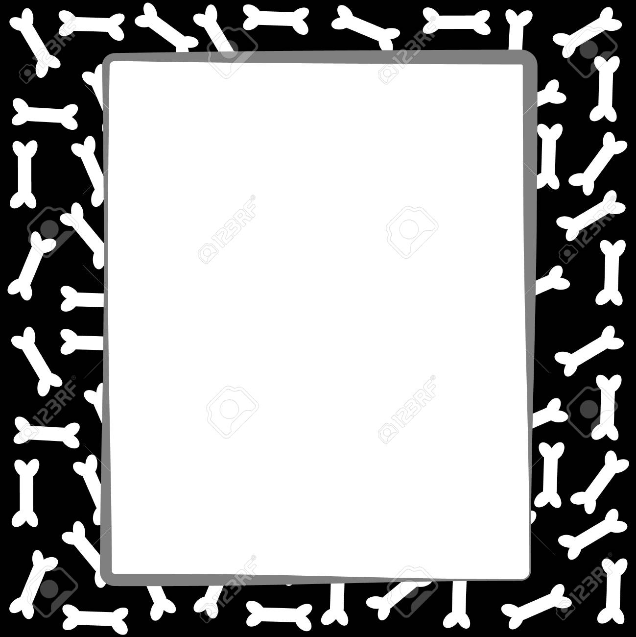 dog bone border on white background vector illustration royalty rh 123rf com