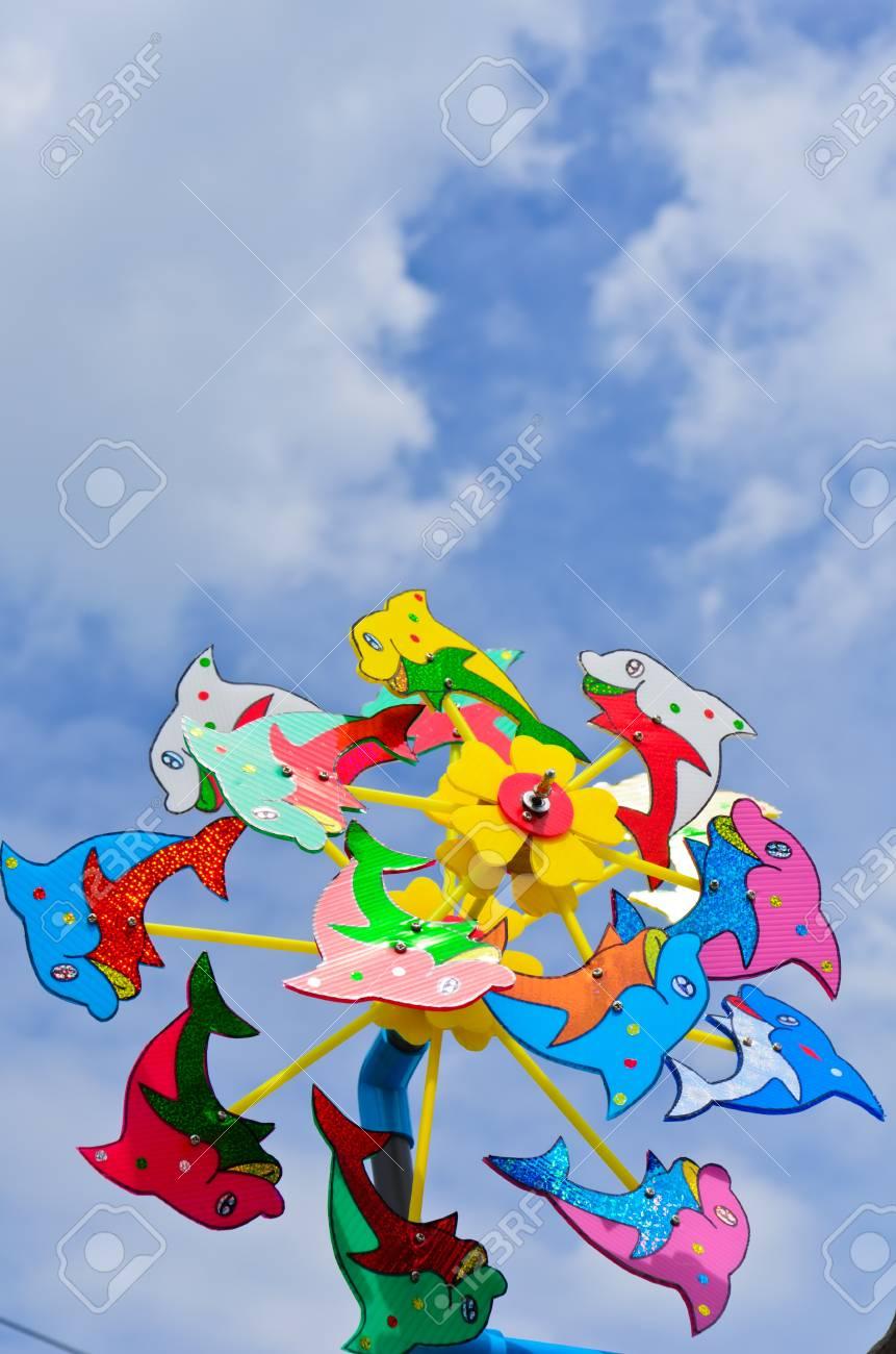 Colorful Windwheel toy Stock Photo - 11328822