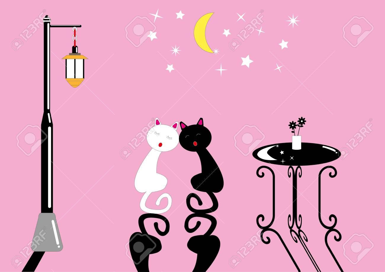 Night cat Stock Vector - 18311103