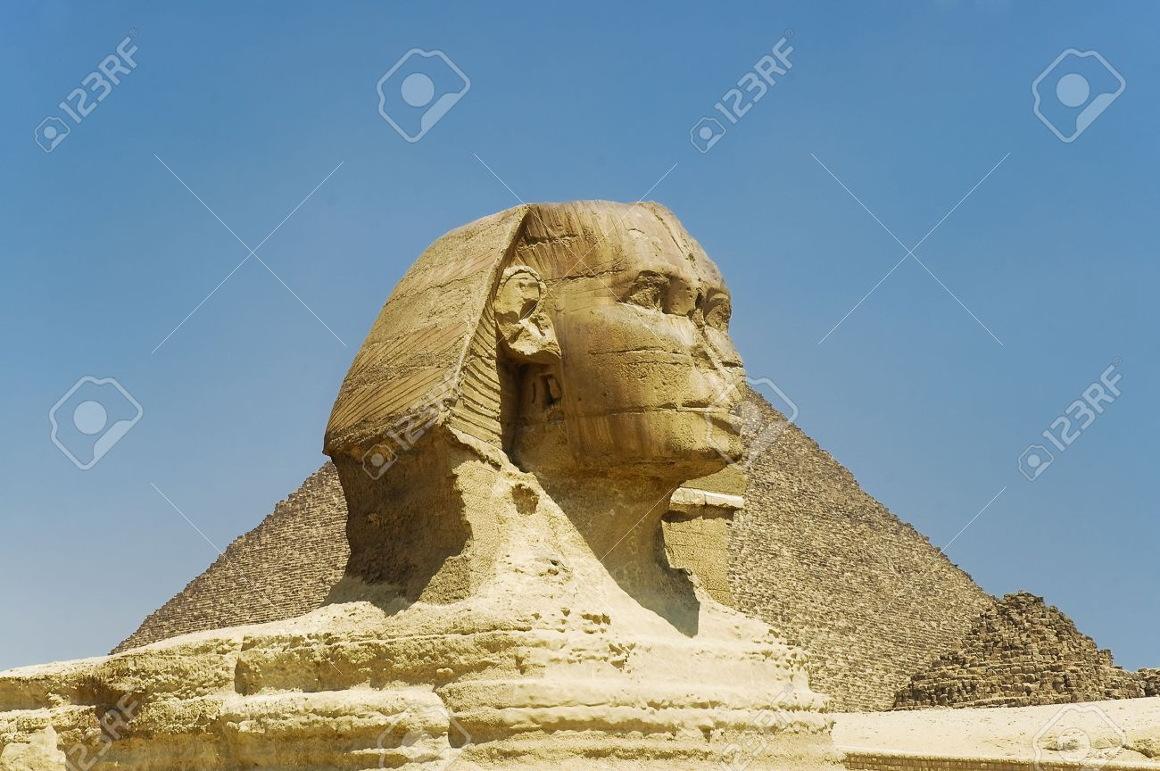 Great Sphinx statue in Egypt on Giza Plateau one of worlds..