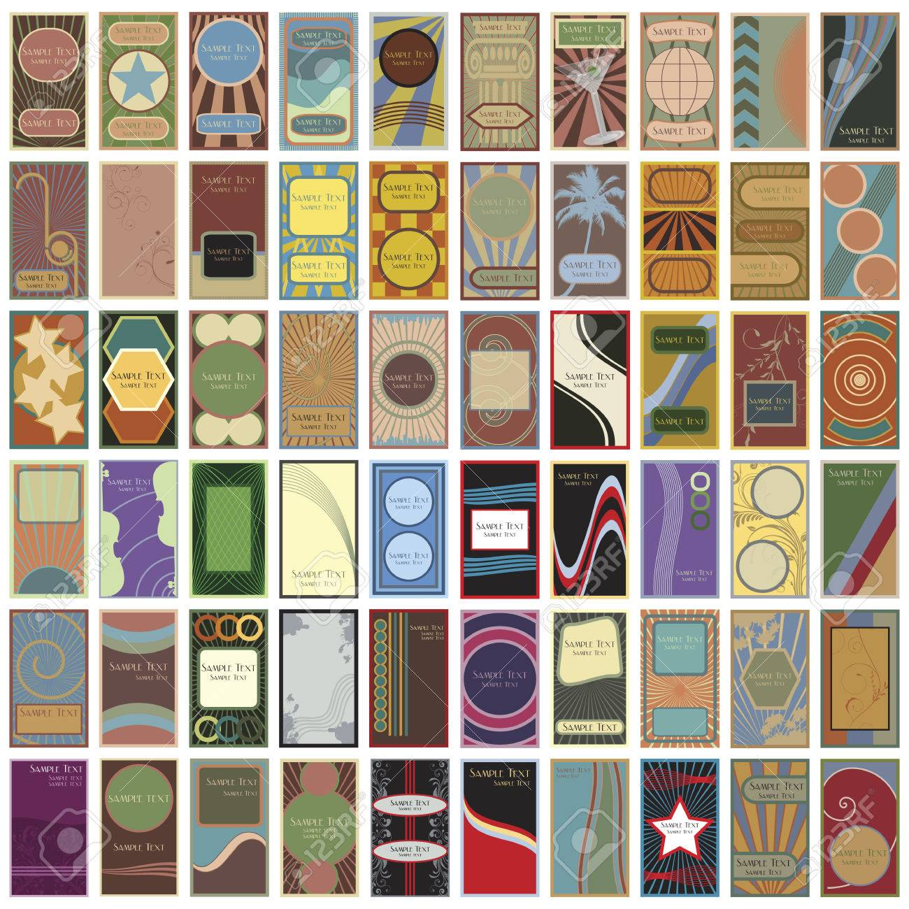 A collection of 60 retro business cards - 6192623