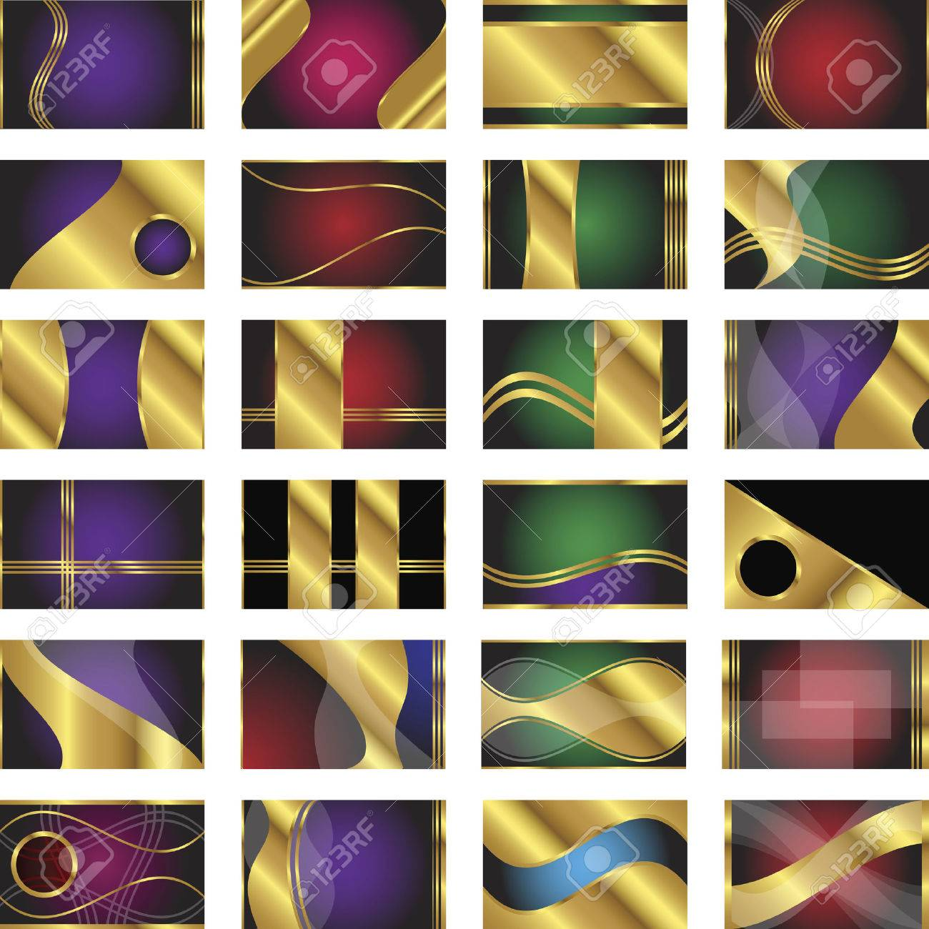 Une Collection De 24 Modeles Carte Visite Dans La Taille