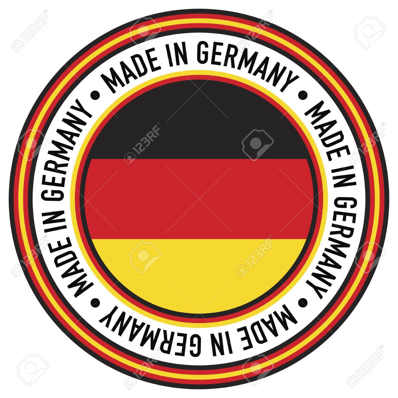 A Made in Germany rubber-stamp like circular decal. - 6820626