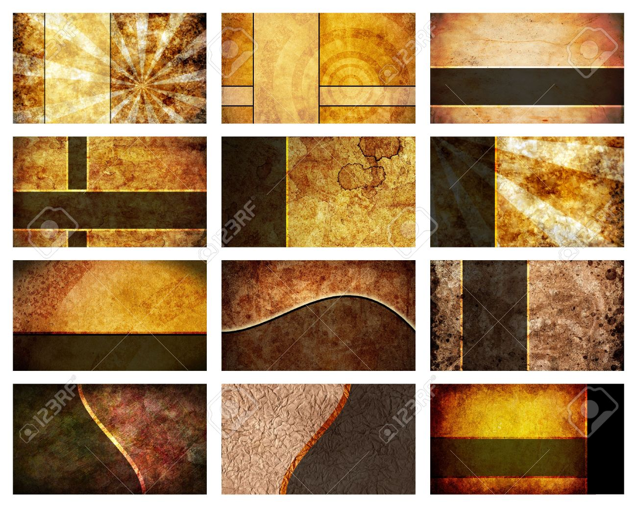 A Collection Of 12 Unique Business Card Backgrounds. Each Individual ...