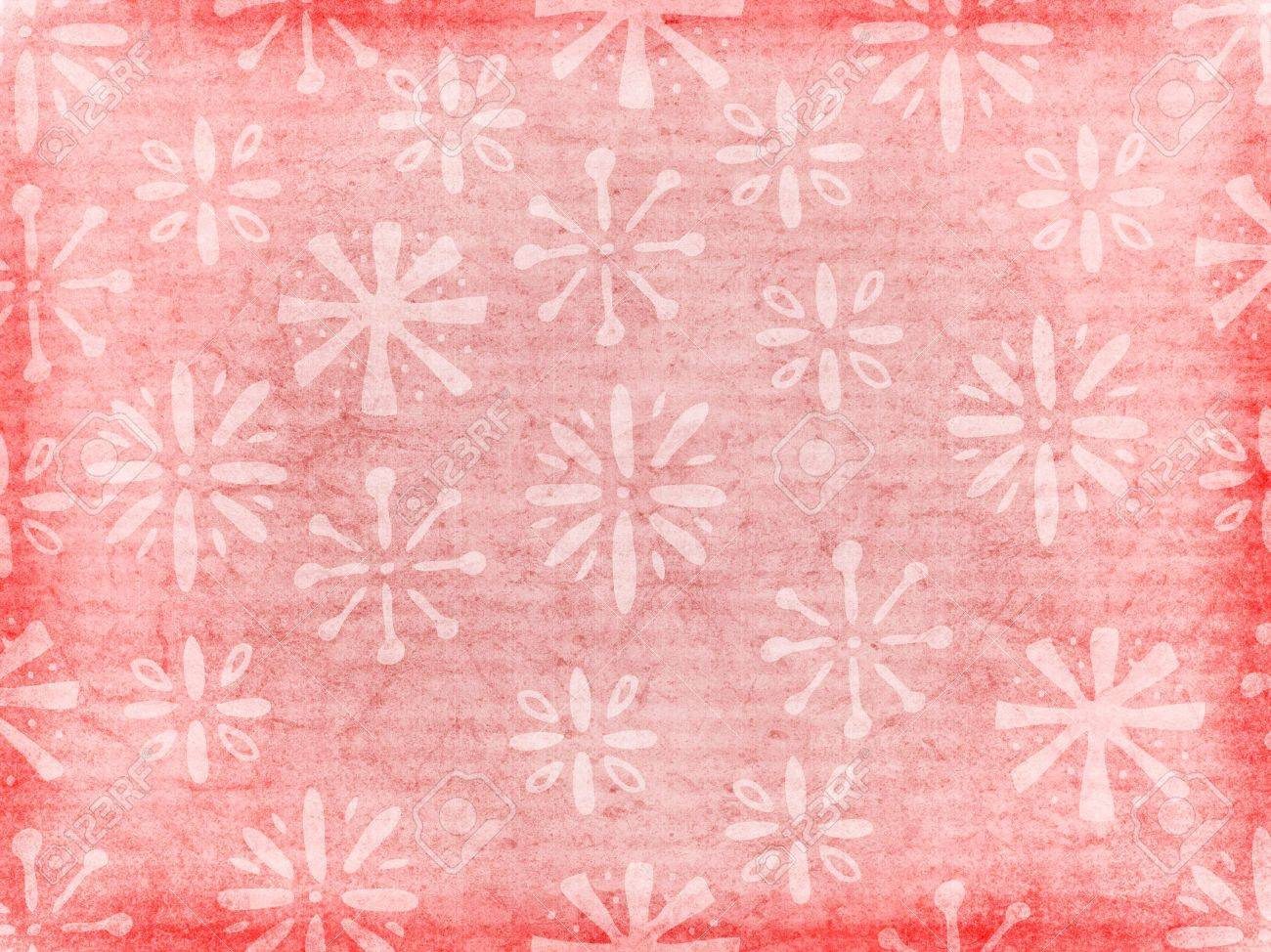A Retro Style Background Texture Or Wallpaper With Floral Pattern