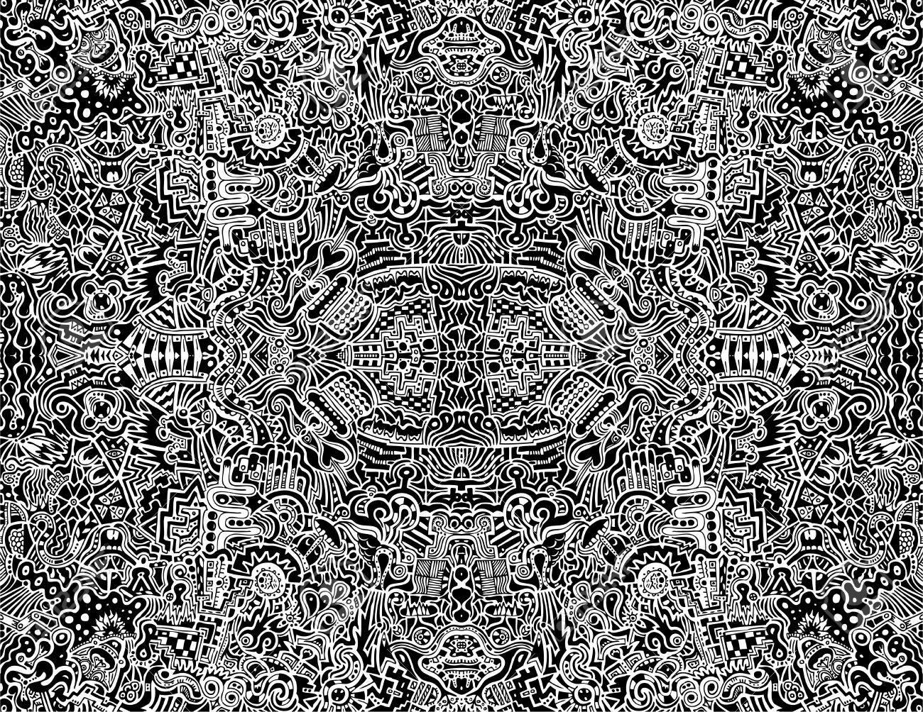 非常に複雑な対称的な抽象的なシ...