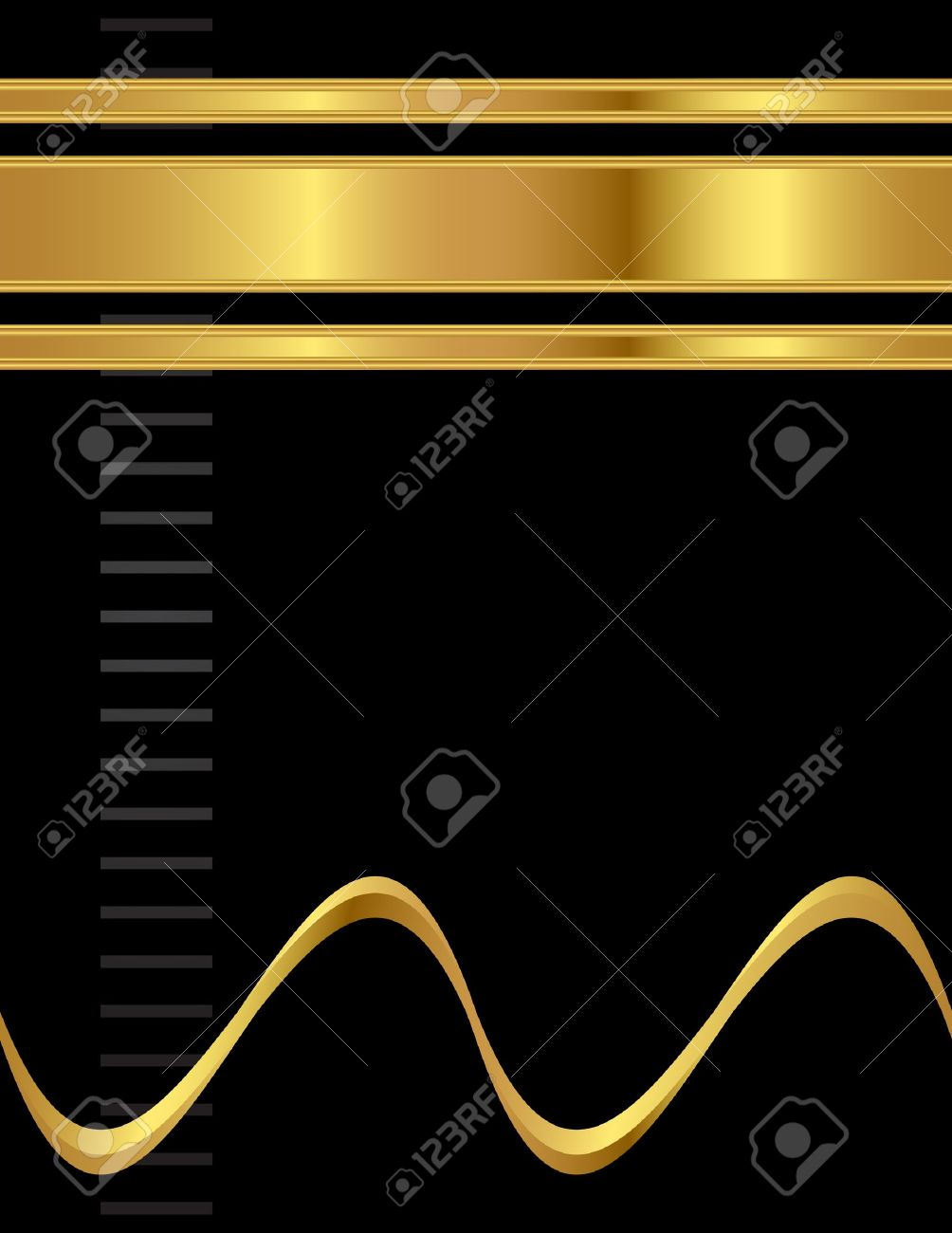 A gold and black, simple and clean, elegant and professional style A4 background vector. Stock Vector - 11191060