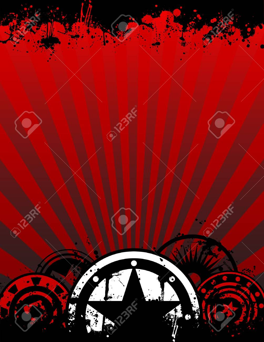 A unique grunge vector poster background image with space for you text in a letter or A4 aspect ratio - 11271769