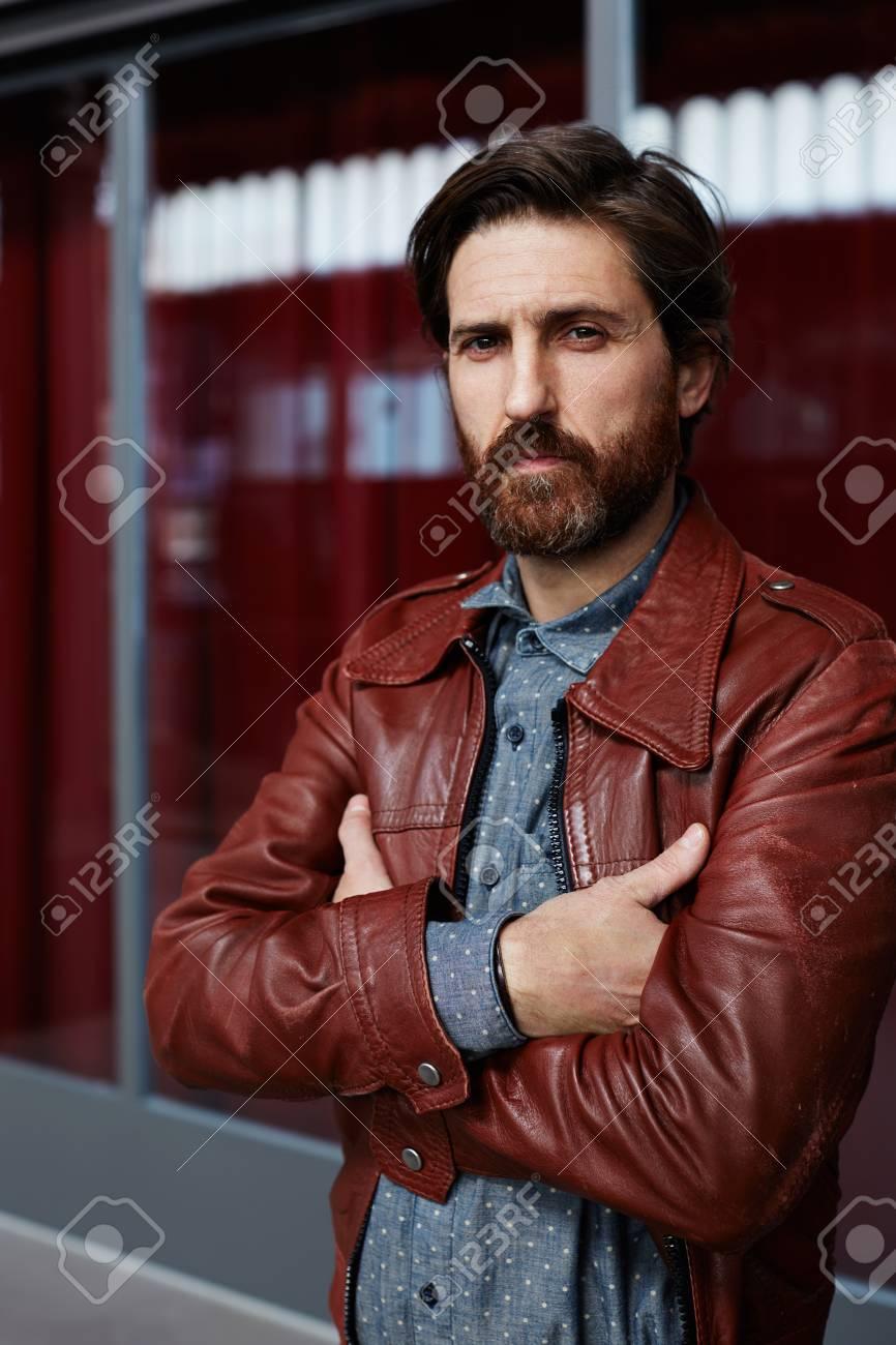 Homme Mode Modèle La Et Portrait Vêtu Chemise Mûr Hipster De vtAAUwq1