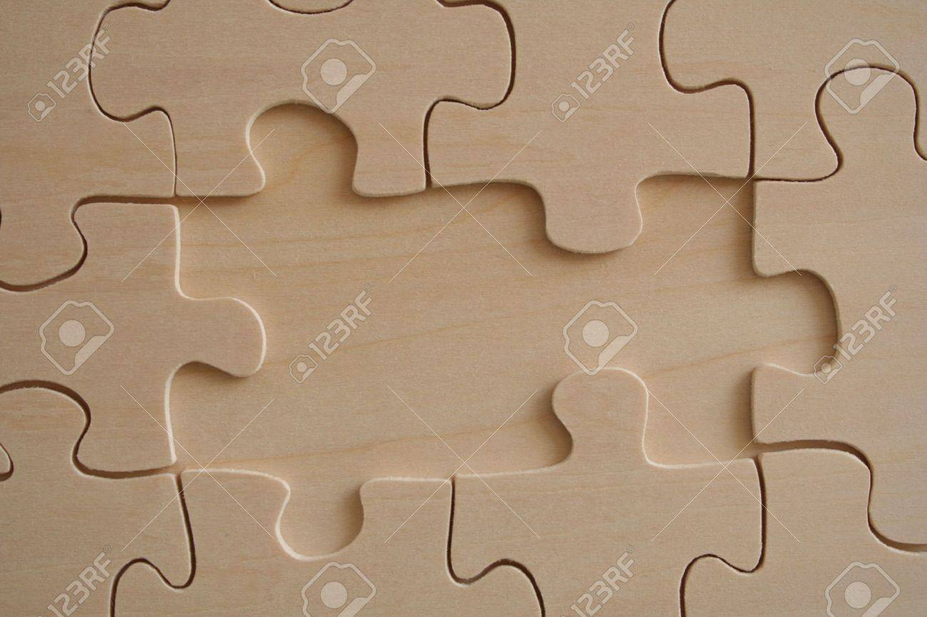 Two missed pieces of wooden jigsaw Stock Photo - 368456