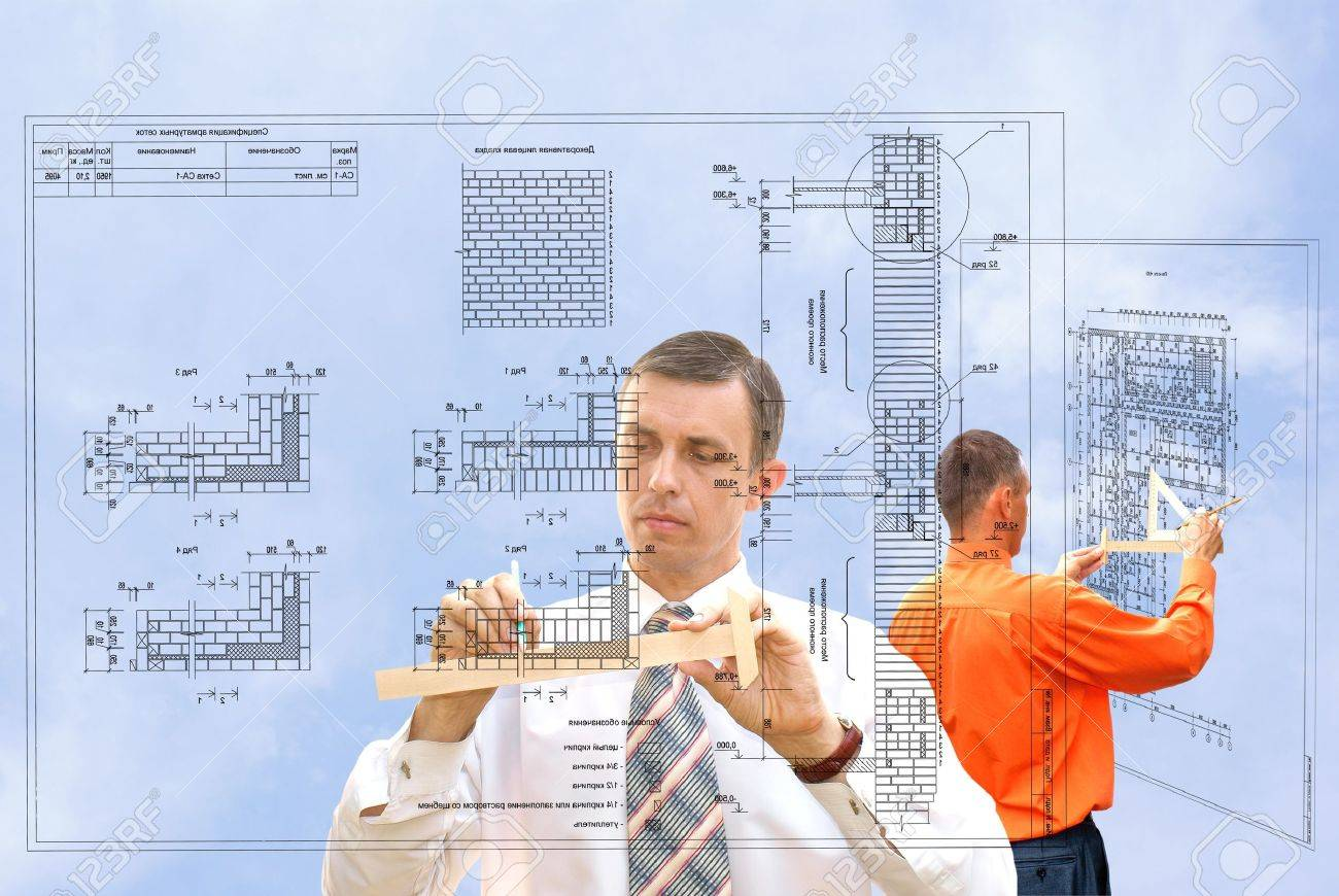 projection -initial preparatory stage in construction new building Stock Photo - 7607517