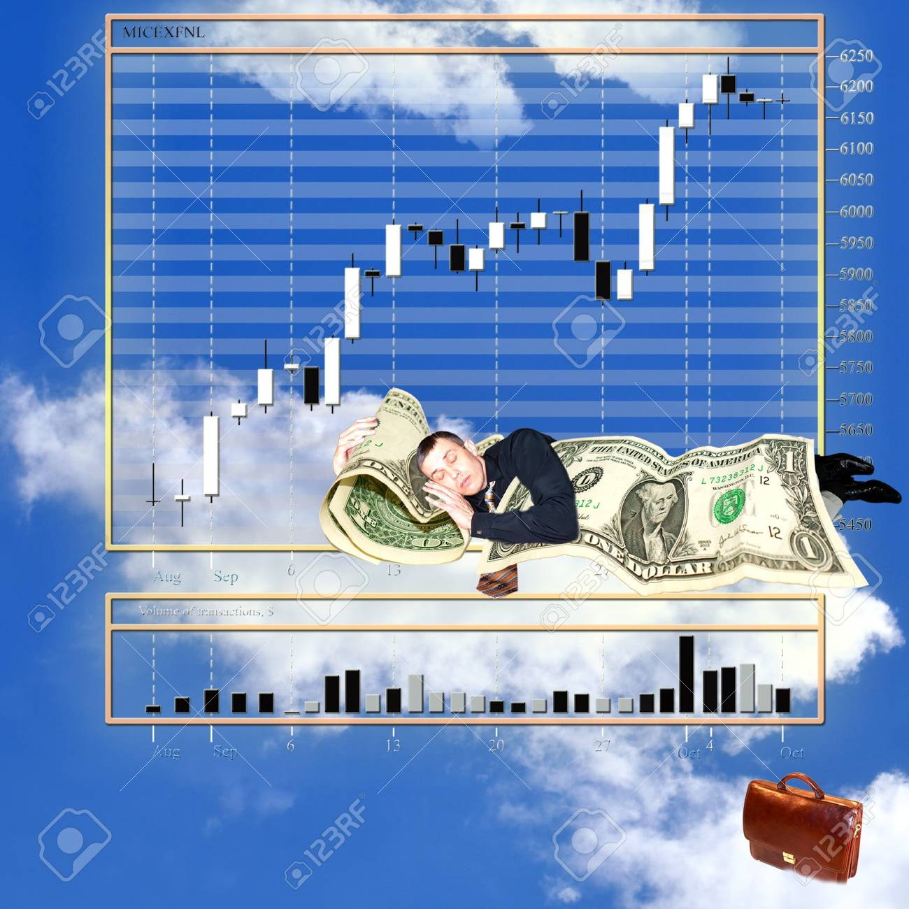 exchange prices  in  tender upon heaven monetary market changeable Banque d'images - 7986126