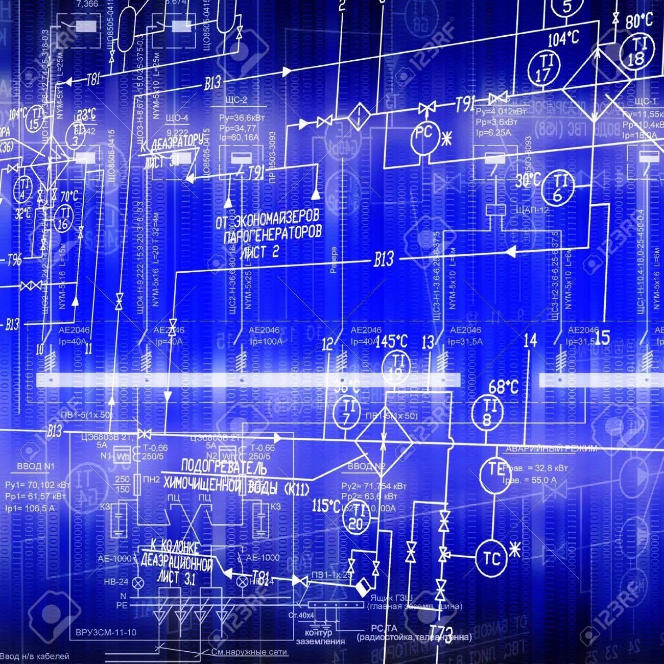 Das Elektrische System Der Automatisierung Der Verbindung Eine ...