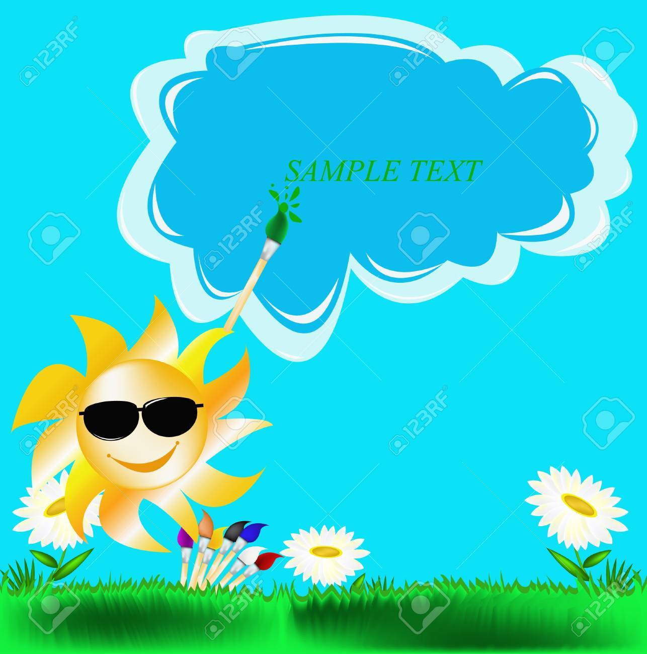 Summer solar picture Stock Vector - 10541479