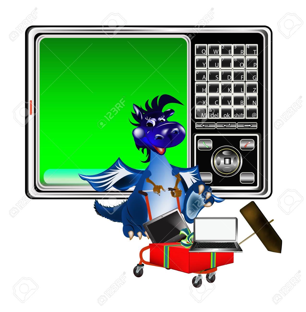 Dark blue dragon a symbol of new 2012 on east calendar Stock Photo - 11070807